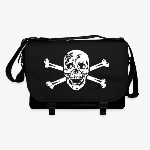 02 Totenkopf Hamburg Skull Schädel Pirat Tasche Schultertasche Umhängetasche schwarz  1c - Umhängetasche