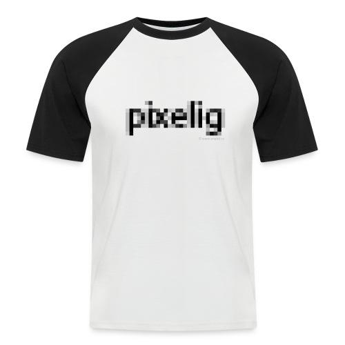 pixelig - Männer Baseball-T-Shirt