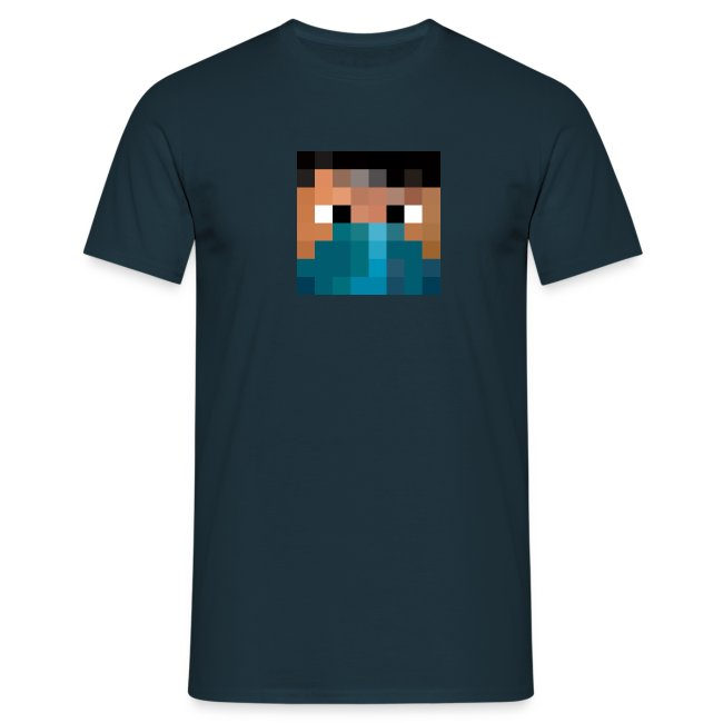 "Männer T-Shirt - Logo vorne - Text hinten ""Who the fuck is Pande?"" mit QR-Code"