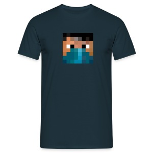Männer T-Shirt - Logo vorne - Text hinten Who the fuck is Pande? - Männer T-Shirt