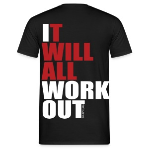 It Will All Workout - White&Red - Men's T-Shirt