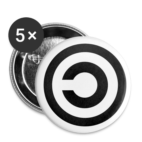 Badges copyleft - Badge moyen 32 mm