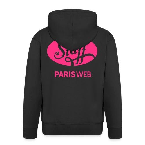 Staff - hoodie zip - rose - Veste à capuche Premium Homme