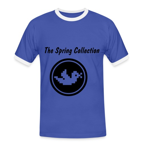 The Spring Collection (blau) - Männer Kontrast-T-Shirt