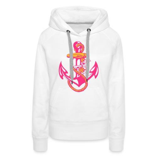 Lady pinker Blüten-Anker - Frauen Premium Hoodie