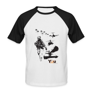 Front print - Men's Baseball T-Shirt