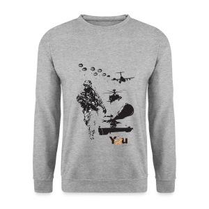 Front Print - Men's Sweatshirt