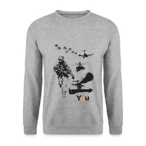 Front Print - Men's Sweatshirt