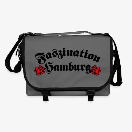 Faszination Hamburg Tasche Schultertasche Umhängetasche Tattoo Rosen 2c - Umhängetasche