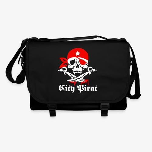 City Pirat Totenkopf Hamburg Skull Schädel Piraten Tasche Schultertasche Umhängetasche schwarz  2c - Umhängetasche