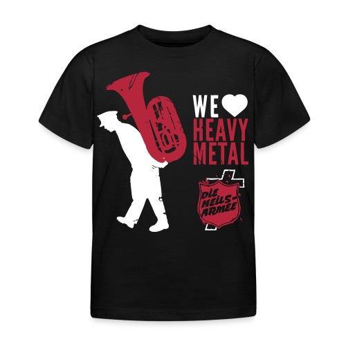 Brass Band Heavy Metal (weiß/rot) - Kinder T-Shirt