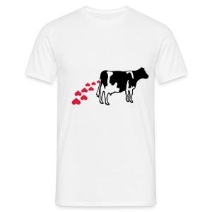 cow heart Male design A - Men's T-Shirt