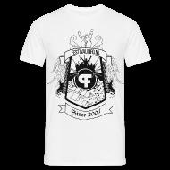 T-shirts ~ Mannen T-shirt ~ Festivalinfo schild wit (male)