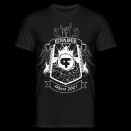 T-shirts ~ Mannen T-shirt ~ Festivalinfo schild zwart (male)