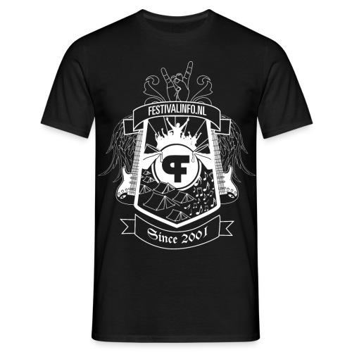 Festivalinfo schild zwart (male) - Mannen T-shirt