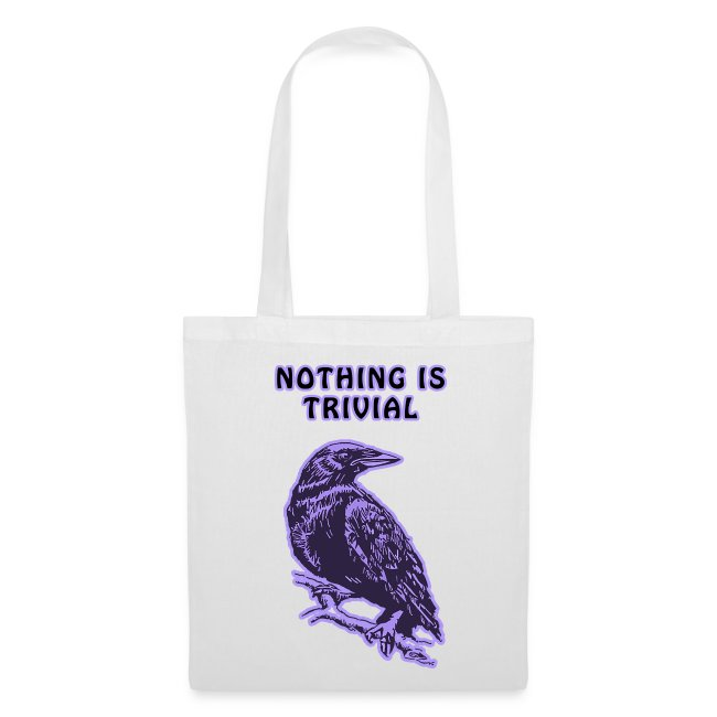 Purple Crow Tote Bag