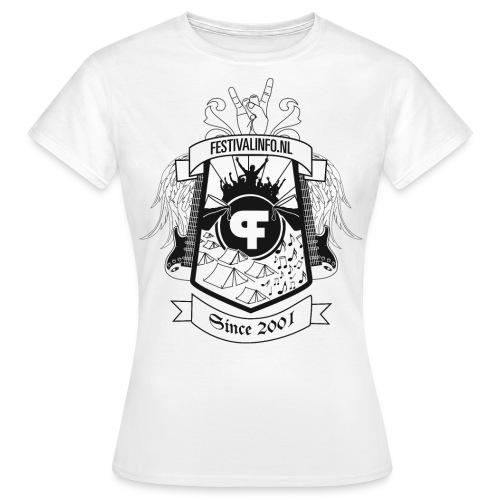Festivalinfo schild wit (female) - Vrouwen T-shirt
