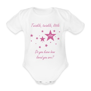 Do You Know Vest - Pink - Organic Short-sleeved Baby Bodysuit