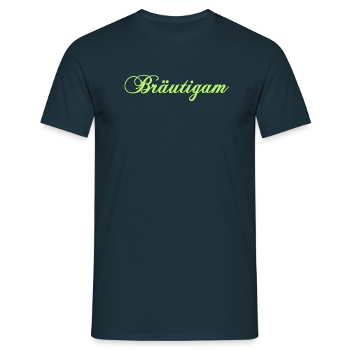Bräutigam - blaues T-Shirt - Männer T-Shirt