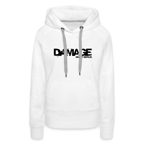 Damage Label Logo Hoodie Girls - Women's Premium Hoodie