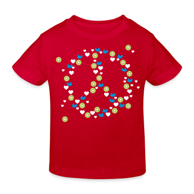 Red love 'n peace (3c) Kid's Shirts
