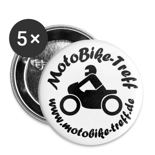 5er Set Buttons mittel - Buttons mittel 32 mm (5er Pack)