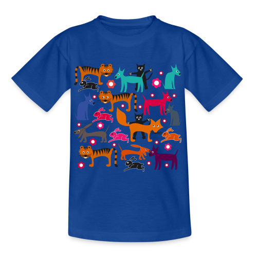 kinder, t-shirt klassisch, alle meine tiere - Kinder T-Shirt