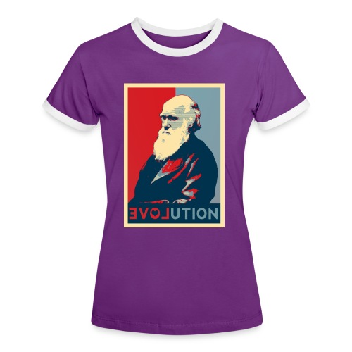 I love evolution - XX - Maglietta Contrast da donna