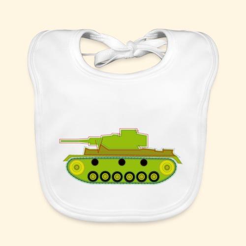 Baby-Lätzchen - grüner Panzer - Baby Bio-Lätzchen