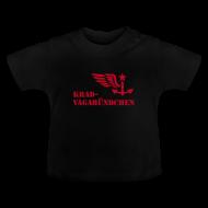 Baby T-Shirts ~ Baby T-Shirt ~ KRAD-VAGABÜNDCHEN - Baby-T-Shirt (roter Aufdruck)