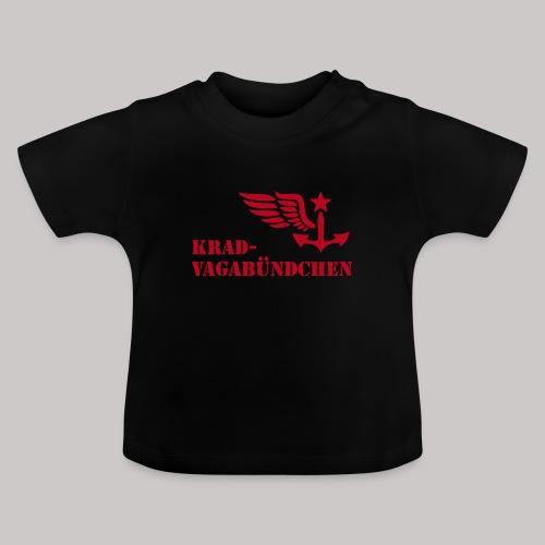KRAD-VAGABÜNDCHEN - Baby-T-Shirt (roter Aufdruck) - Baby T-Shirt
