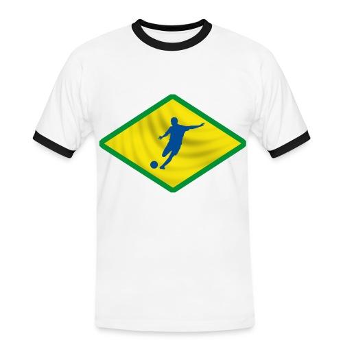 brazil football design - Men's Ringer Shirt