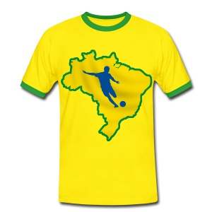 brazil football, soccer - Men's Ringer Shirt