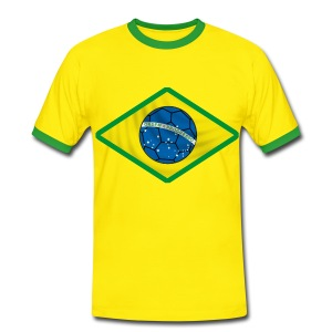 brazil football design - T-shirt contraste Homme