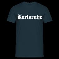 T-Shirts ~ Männer T-Shirt ~ Karlsruhe, Fußballfans