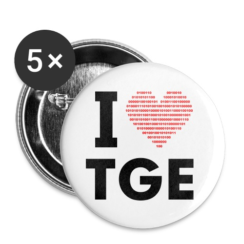 TGE Buttons 5x - Buttons middel 32 mm (5-pack)