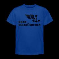 T-Shirts ~ Kinder T-Shirt ~ KRAD-VAGABÜNDCHEN - Kinder-T-Shrit (Aufdruck schwarz)