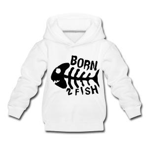 kid's born 2 fish tee - Kids' Premium Hoodie