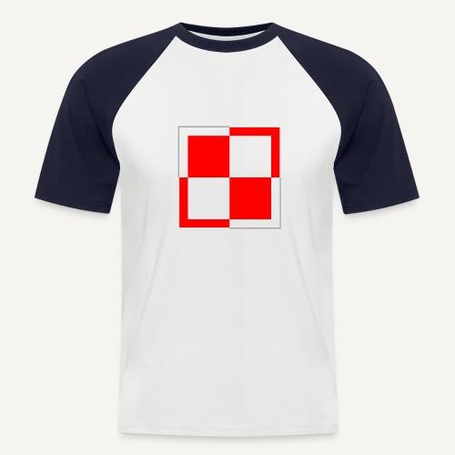 Szachownica - znak lotnictwa polskiego - Koszulka bejsbolowa męska