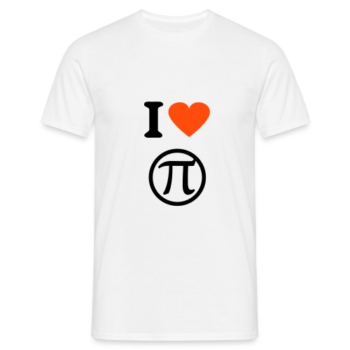i love pi - Men's T-Shirt