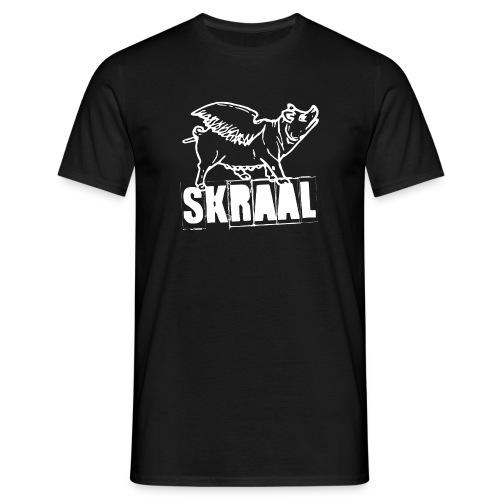 Mannen T-shirt - varken,spreuk,smoar,skraallogo,jild,frysk,friesland,fries,feenhoop,dronken,bluesrock,big,bernlef,barich,band,Skraal