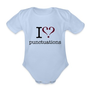 I love punktuations baby's short sleeve one piece - Organic Short-sleeved Baby Bodysuit