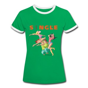 S1NGLE Party - Vrouwen contrastshirt