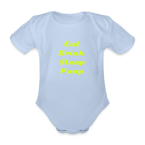 eat one piece - Organic Short-sleeved Baby Bodysuit