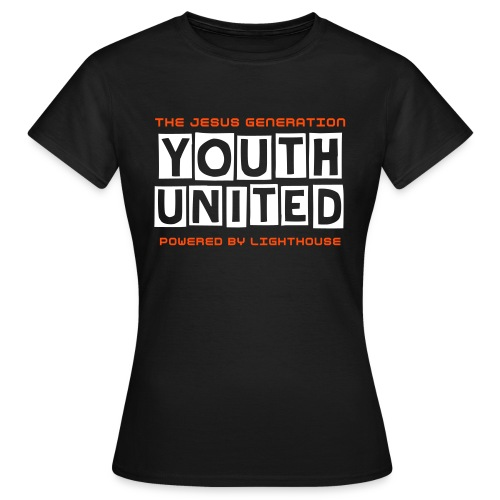 Youth United Womans T-Shirt White-Orange - Vrouwen T-shirt
