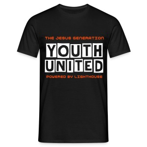 Youth United Mens T-Shirt White-Orange - Mannen T-shirt