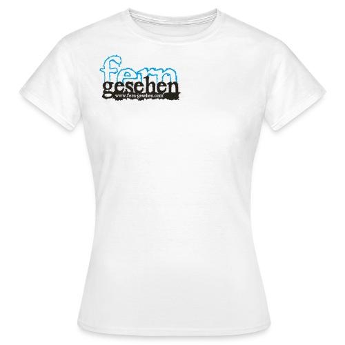 Damenshirt mit Logo und Domain weiß - Frauen T-Shirt