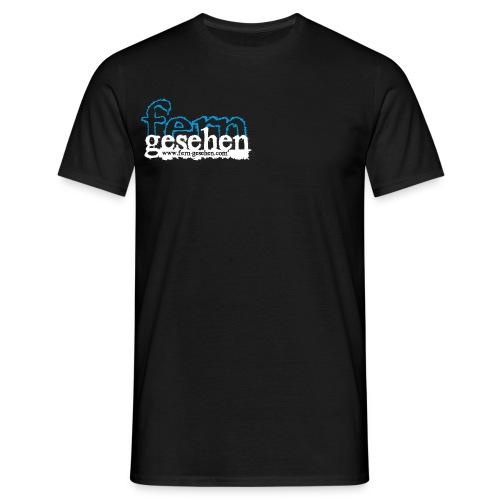 Herrenshirt mit Logo und Domain schwarz - Männer T-Shirt
