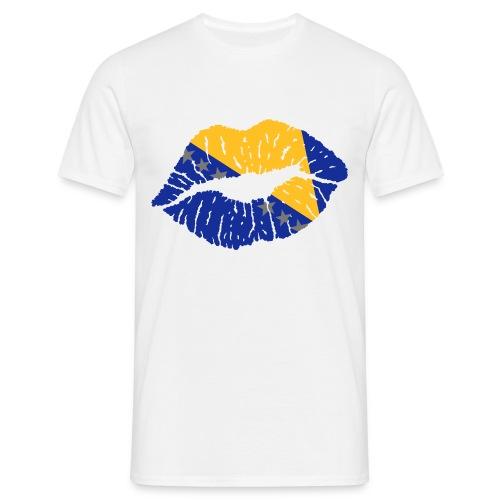 Bosnien Kuss T-shirt - Männer T-Shirt
