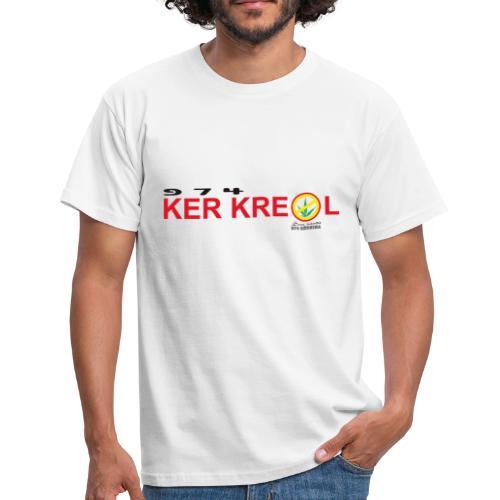 Tee shirt classique Homme 974 Ker Kreol cible - Sans interdit - Réunion - T-shirt Homme